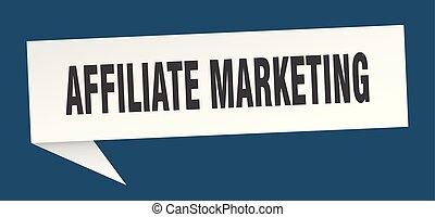 affiliate marketing speech bubble. affiliate marketing sign. affiliate marketing banner