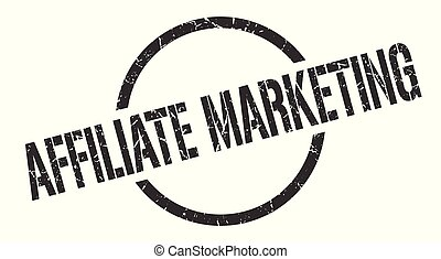 affiliate marketing black round stamp