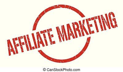 affiliate marketing red round stamp
