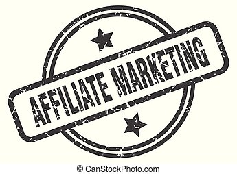 affiliate marketing stamp isolated on white