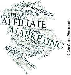 Affiliate marketing - Abstract word cloud for Affiliate...