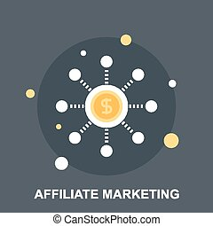 Affiliate Marketing - Vector illustration of affiliate ...