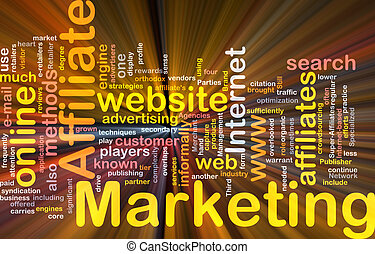 Affiliate marketing word cloud box package - Software...