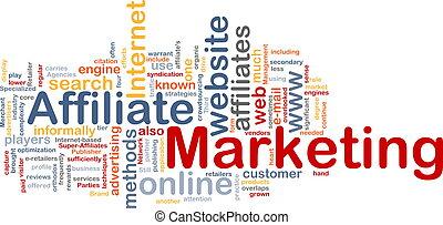 Affiliate marketing word cloud