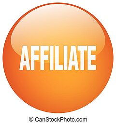 affiliate orange round gel isolated push button