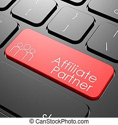 Affiliate partner keyboard image with hi-res rendered...