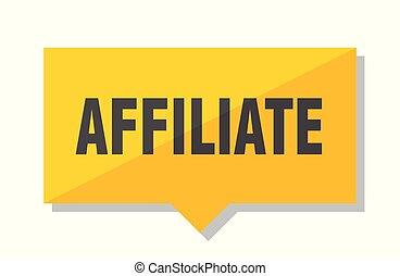 affiliate price tag - affiliate yellow square price tag
