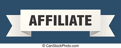 affiliate ribbon. affiliate isolated sign. affiliate banner