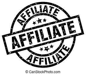 affiliate round grunge black stamp