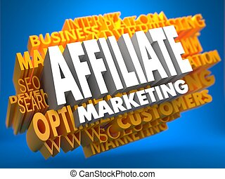 affiliate, wordcloud, marketing., concept.