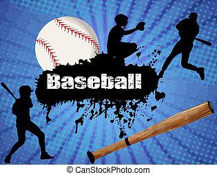 affisch, baseball
