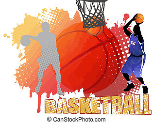 affisch, basketboll