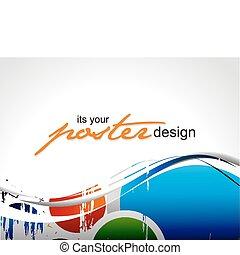 affisch, design