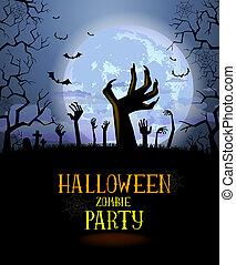 affisch, halloween, bakgrund