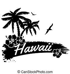affisch, hawaii