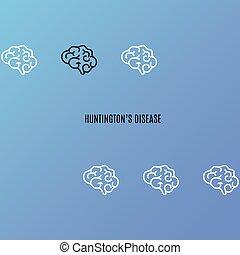 affisch, huntington's, sjukdom
