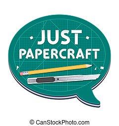 affisch, just, papercraft