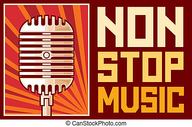 affisch, musik, (microphone)