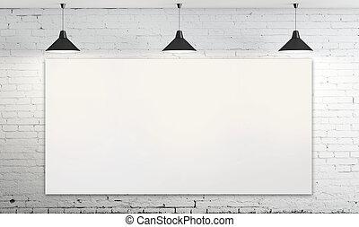affisch, på, vägg