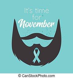 affisch, prostata kräftan, medvetenhet, månad