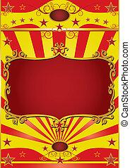 affisch, ram, cirkus