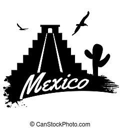 affisch, retro, mexico