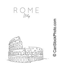 affisch, rom, colosseum