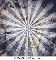 affisch, solstråle, retro nypremiär, bakgrund