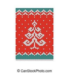 affisch, träd, jul