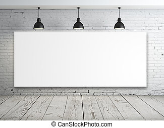 affisch, vita rum