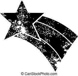 affligé, symbole arc-en-ciel, étoile filante