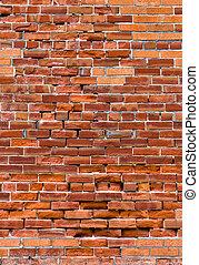 afflitto, parete, mattone, rosso