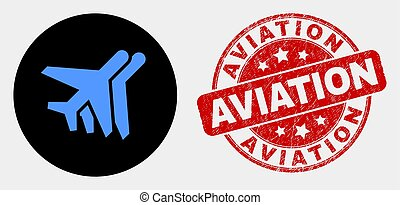 afflizione, francobollo, aeroplani, vettore, sigillo, aviazione, icona
