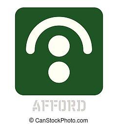 Afford conceptual graphic icon