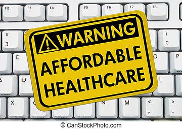 affordable, avertissement, healthcare