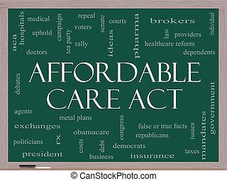 affordable, cuidado, acto, palabra, nube, concepto, en, un,...