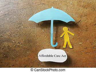 affordable, cura, assicurazione sanitaria, atto