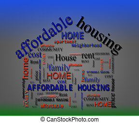 Affordable Housing wordcloud concept