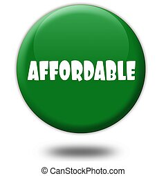 AFFORDABLE on green 3d button.