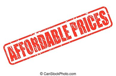 AFFORDABLE PRICES red stamp text