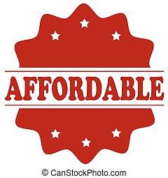 affordable-red, postzegel
