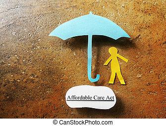 affordable, salute, copertura, atto, assicurazione, cura