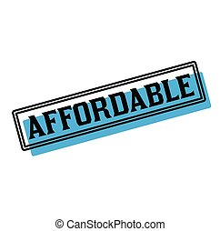 affordable, sticker, reclame