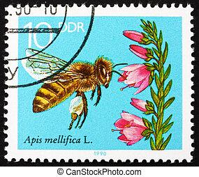 affrancatura, 1990, gdr, nettare, francobollo, erica, ...