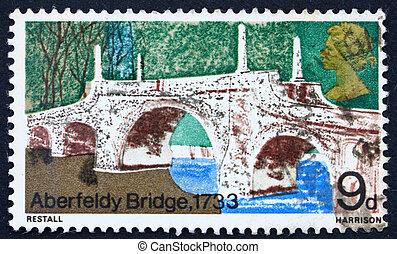 affranchissement, 1968, timbre, perthshire, aberfeldy, gb, ...