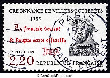 affranchissement, ordonnance, timbre, france, villers-cotterets, 1989