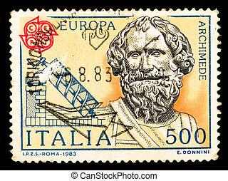 affranchissement, vendange, italie, timbre