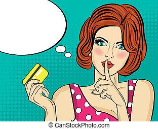 affyre, kredit, tegn, kunst, card, stilhed, firmanavnet,...
