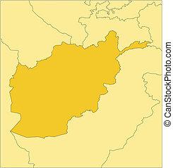 afganistán, países, circundante