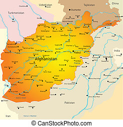 Afganistan - Vector map of Afganistan country